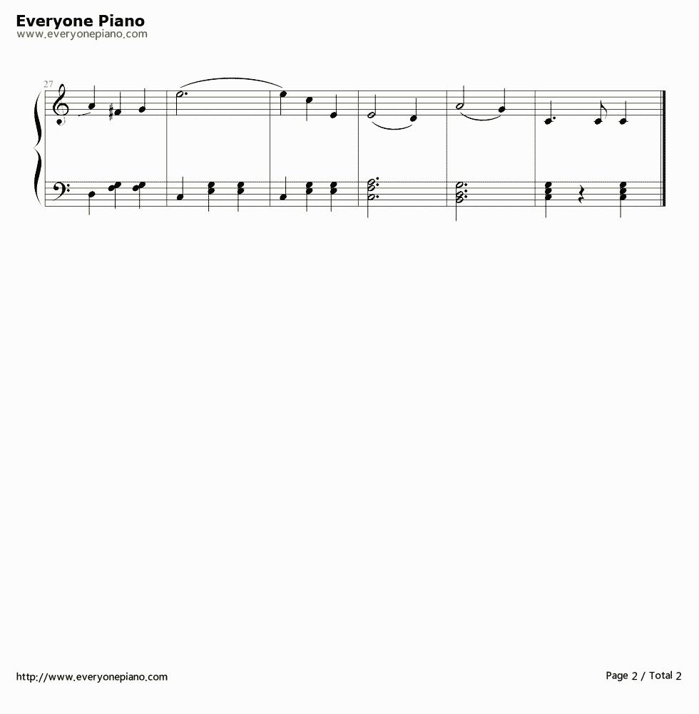 《蓝色多瑙河》 钢琴谱第2张