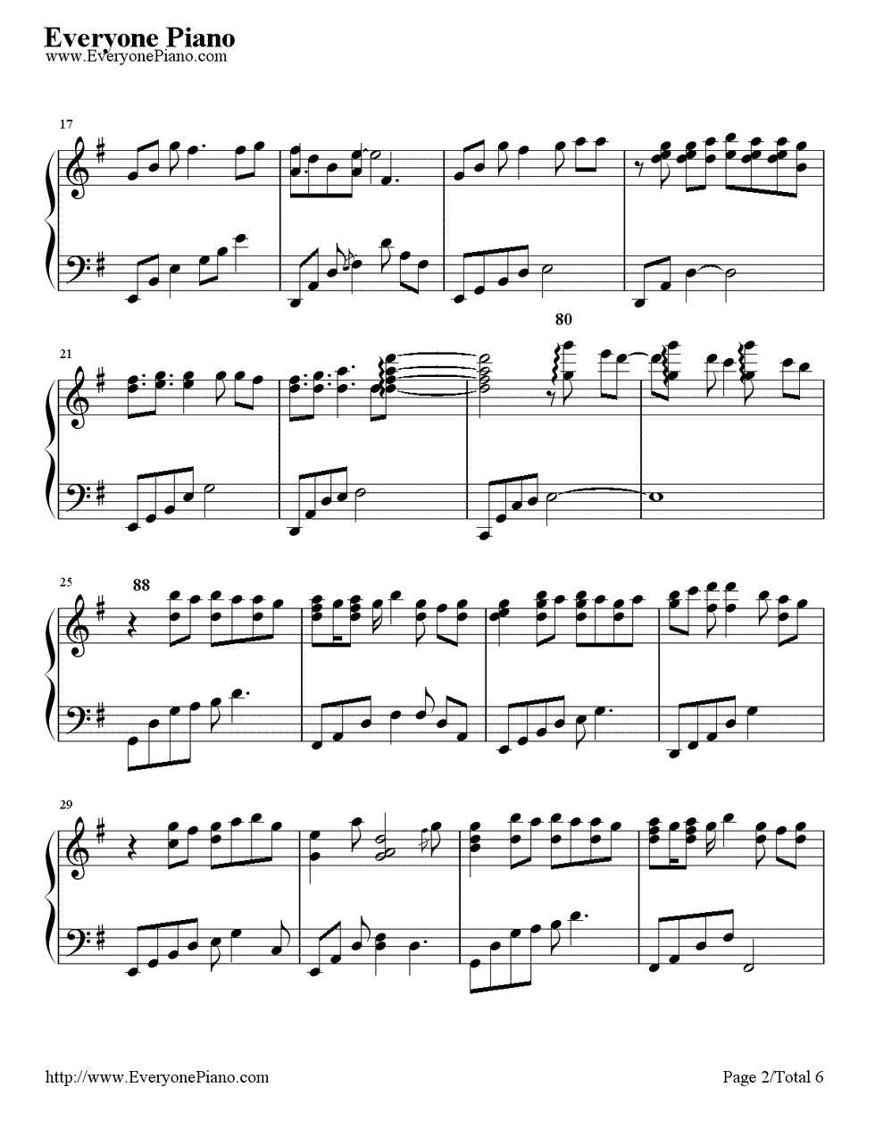 《First Love》(宇多田光演唱)钢琴谱第2张