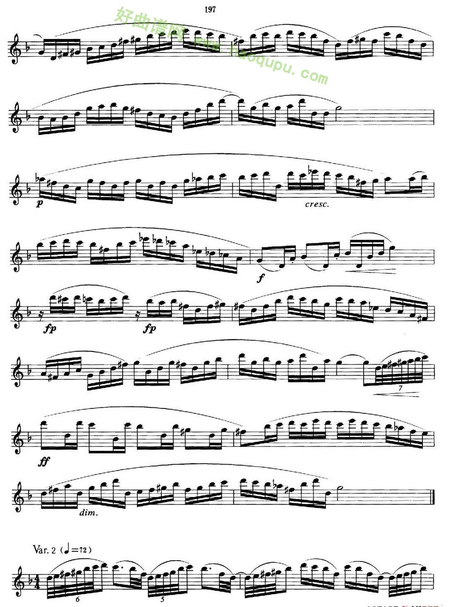 《萨克斯管业余考级九级练习曲第一首》萨克斯简谱第2张