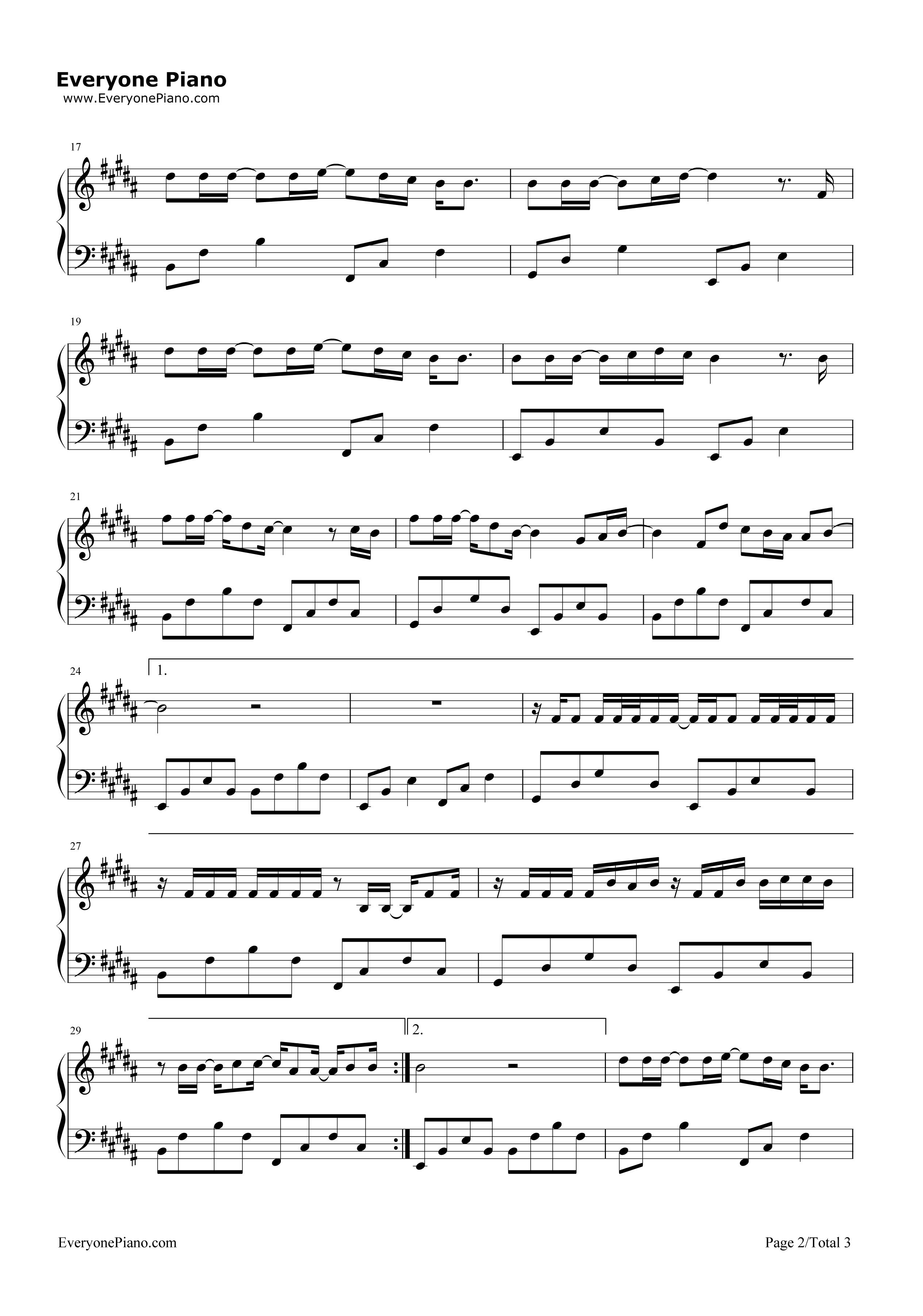 《树读》(王俊凯演唱)钢琴谱第2张