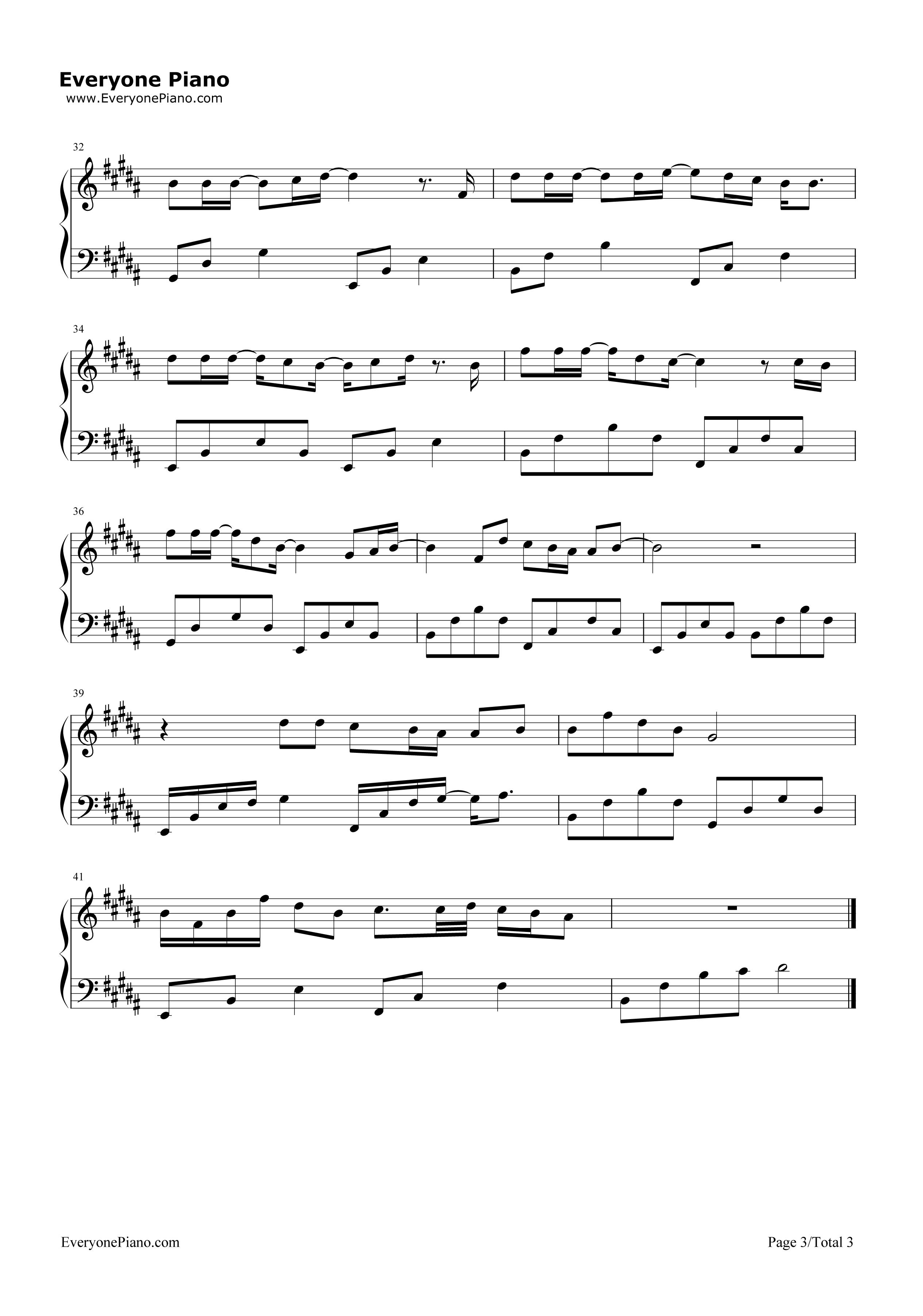 《树读》(王俊凯演唱)钢琴谱第3张