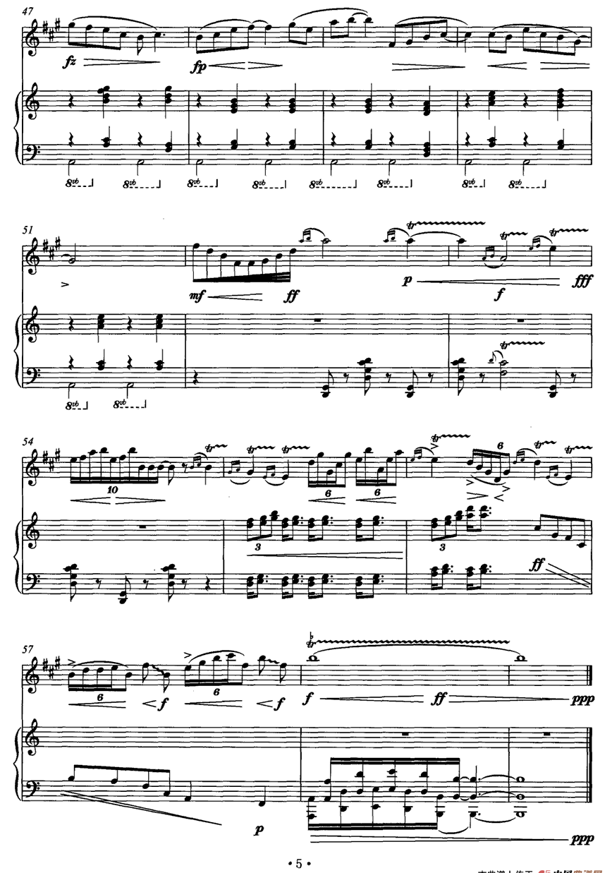 《中国魂》(中音萨克斯+钢琴)萨克斯简谱