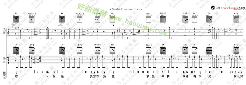 《倩女幽魂》(张国荣演唱)吉他谱第2张