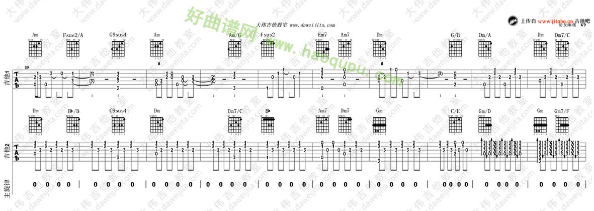《倩女幽魂》(张国荣演唱)吉他谱第4张