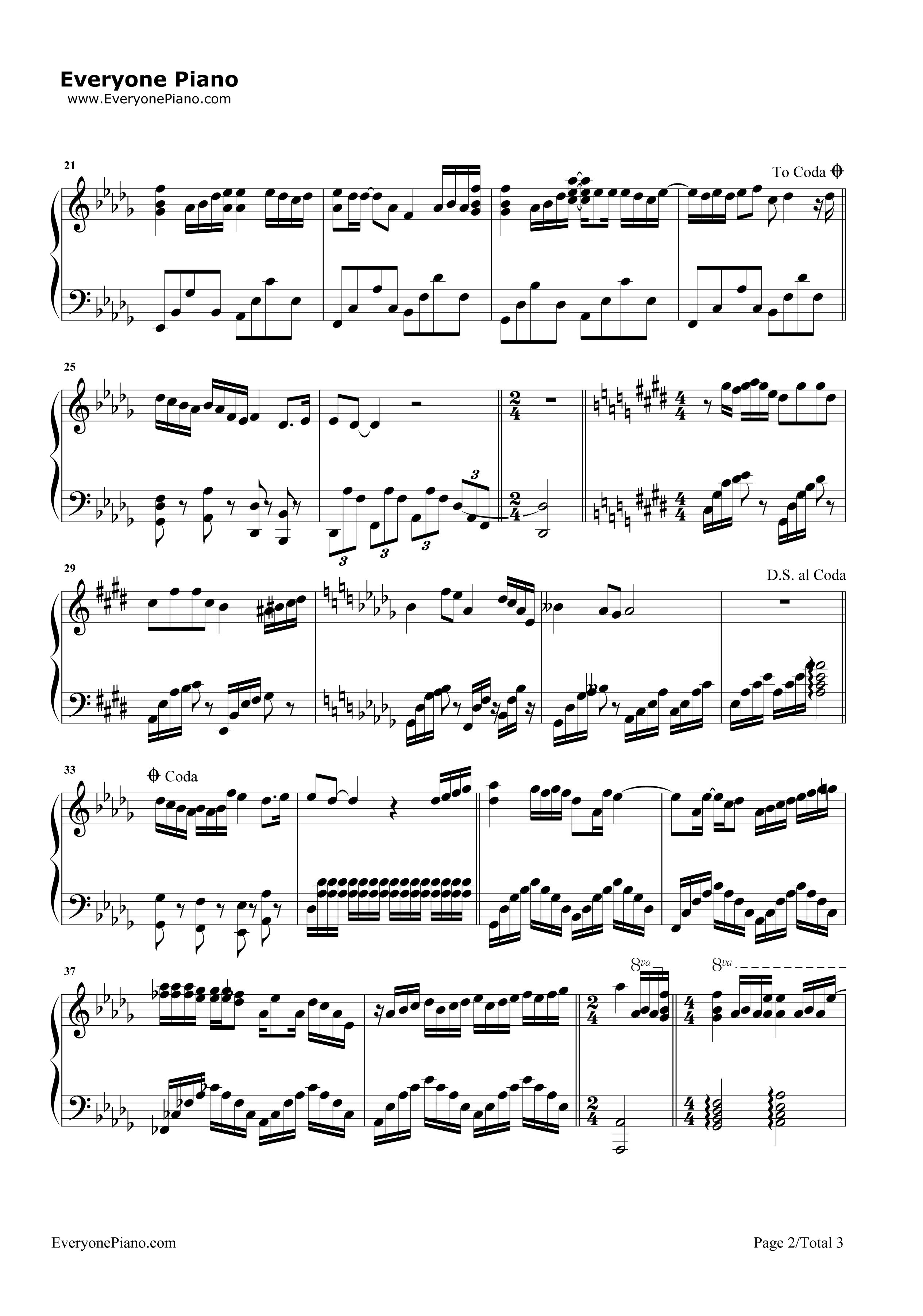 《不完美小孩》(TFBOYS演唱)钢琴谱第2张