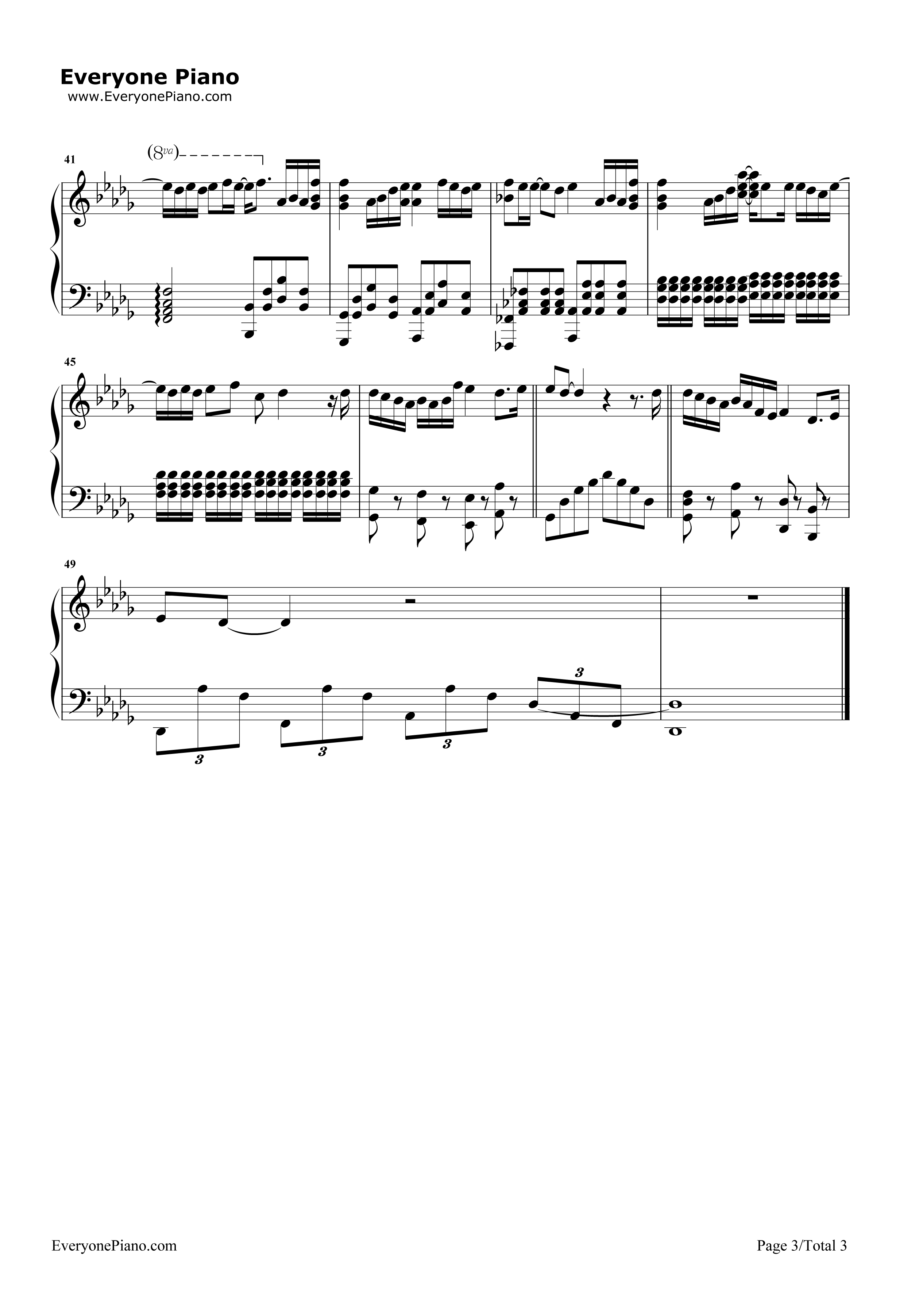 《不完美小孩》(TFBOYS演唱)钢琴谱第3张