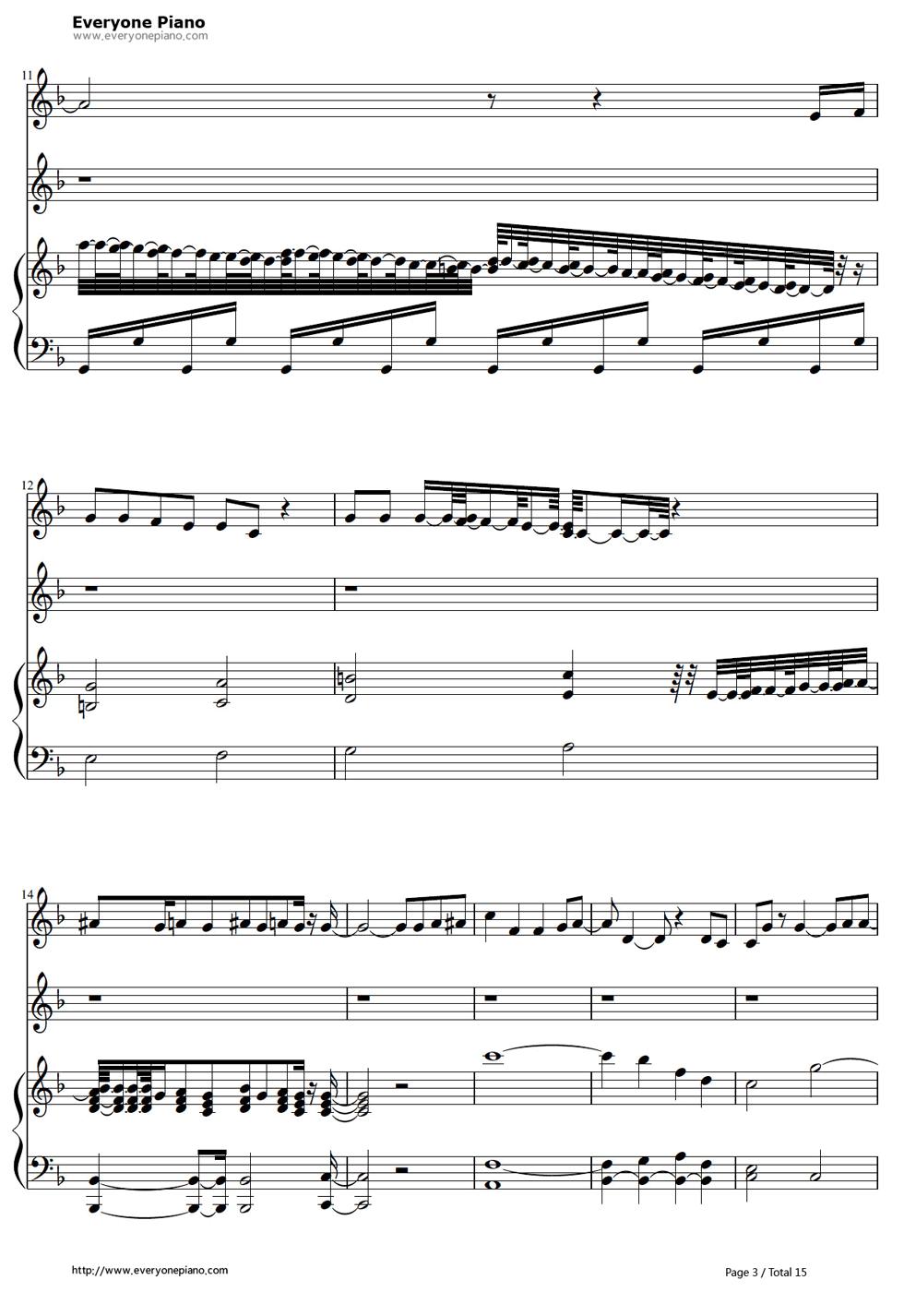 《冰雪奇缘插曲》钢琴谱第2张