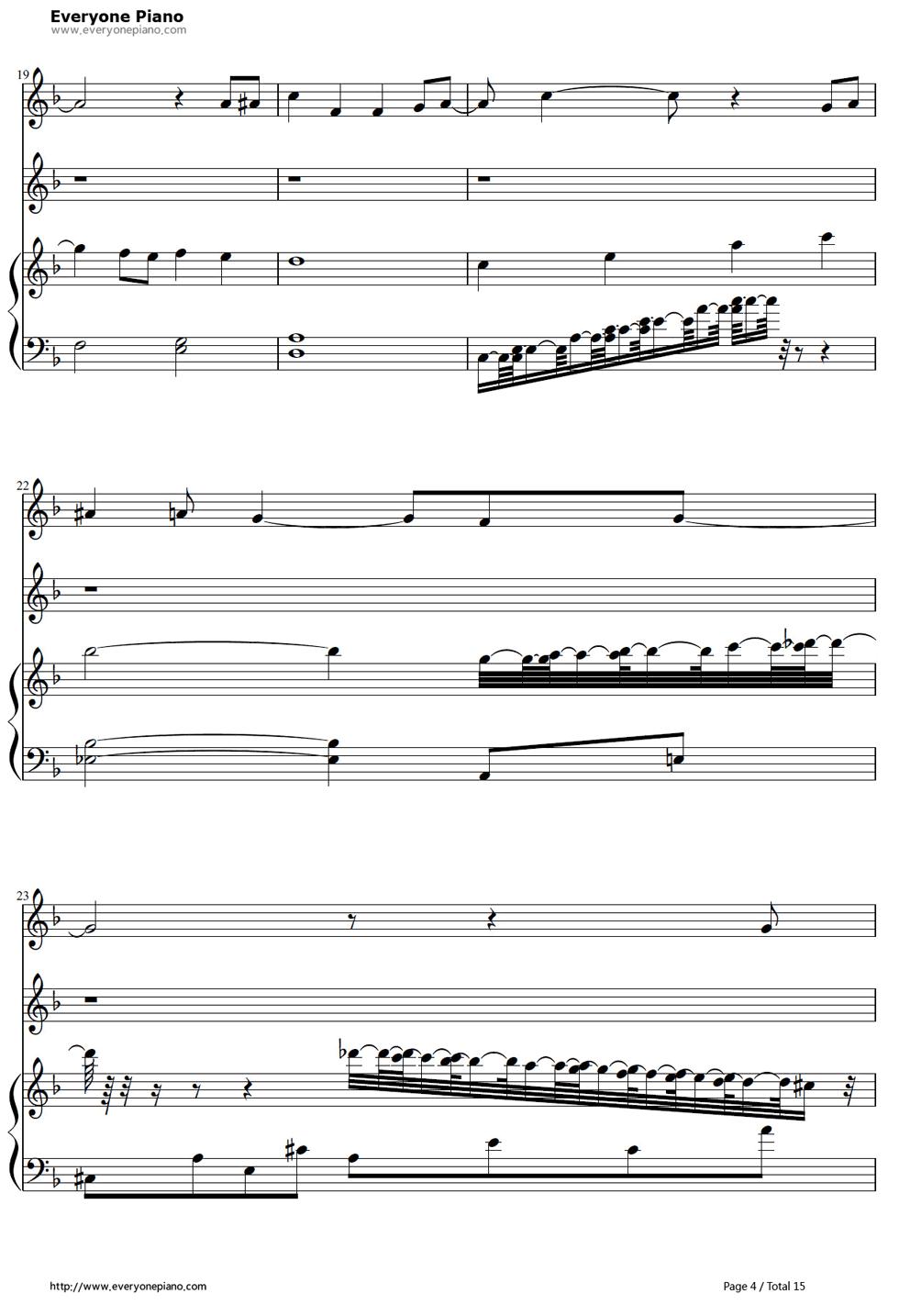 《冰雪奇缘插曲》钢琴谱第3张