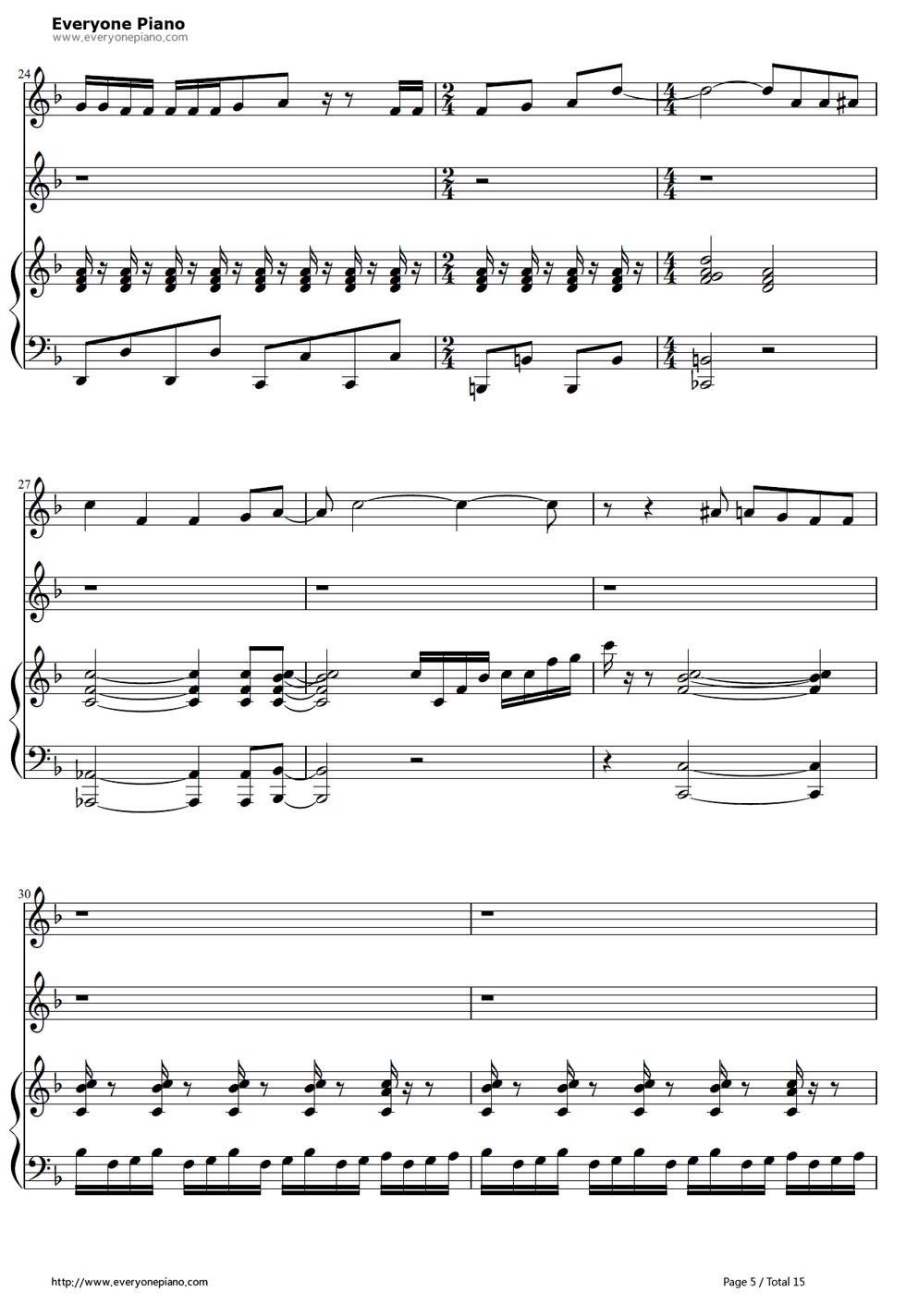 《冰雪奇缘插曲》钢琴谱第4张