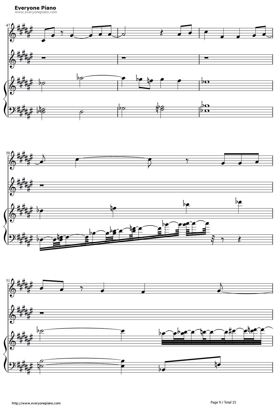 《冰雪奇缘插曲》钢琴谱第8张