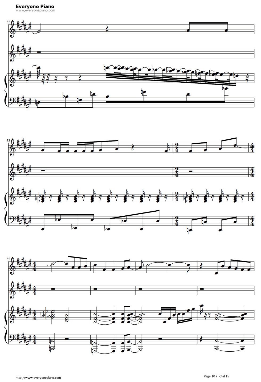 《冰雪奇缘插曲》钢琴谱第9张
