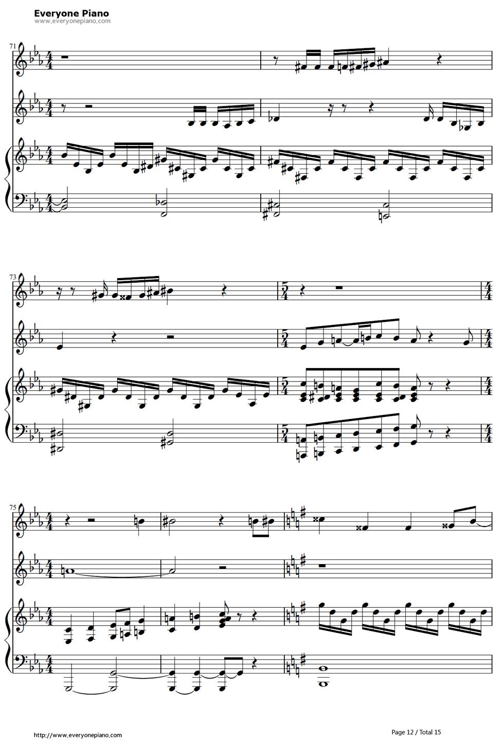 《冰雪奇缘插曲》钢琴谱第11张