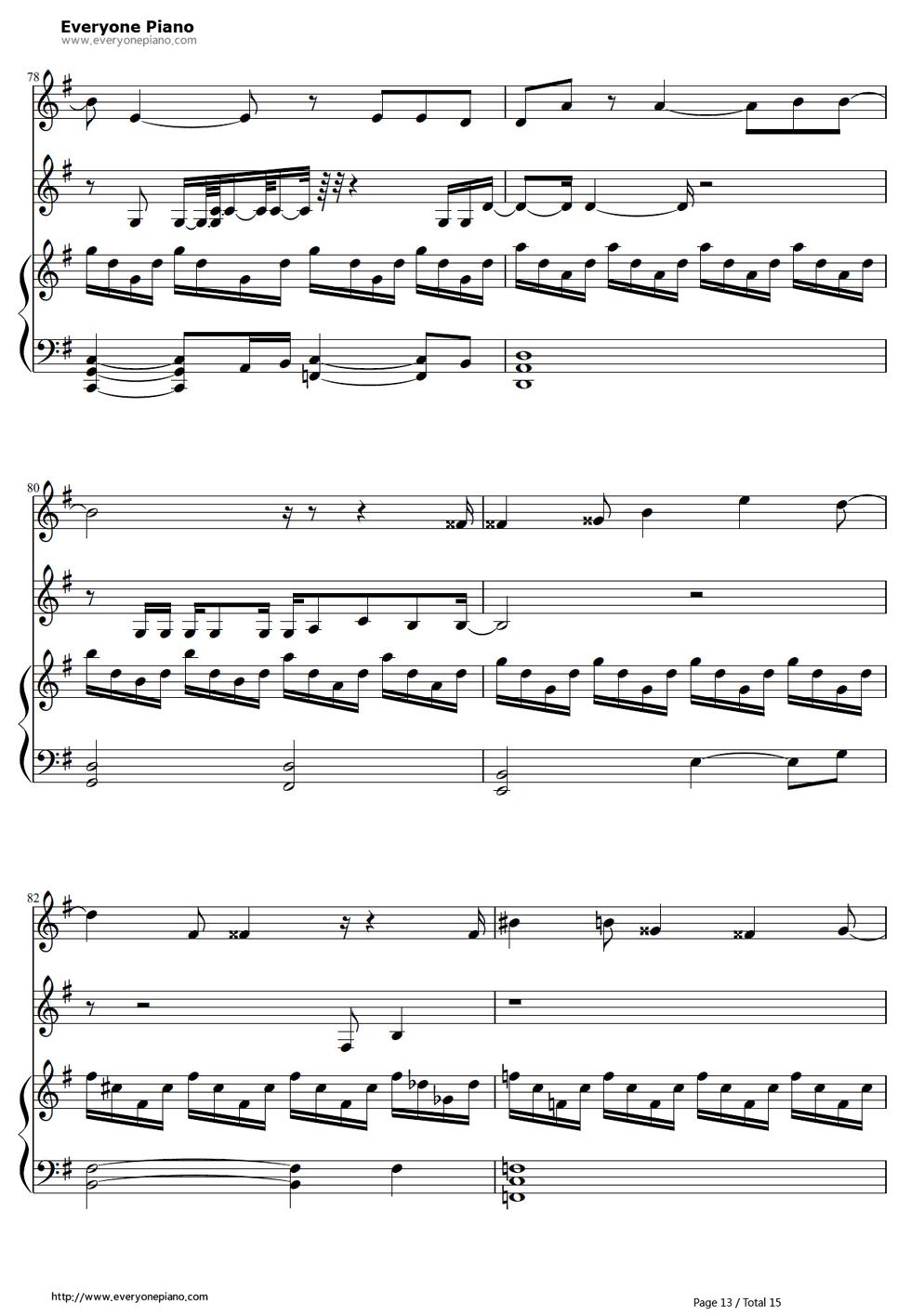 《冰雪奇缘插曲》钢琴谱第12张