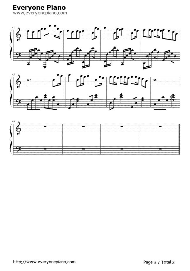 《洋葱》(杨宗纬演唱)钢琴谱第3张