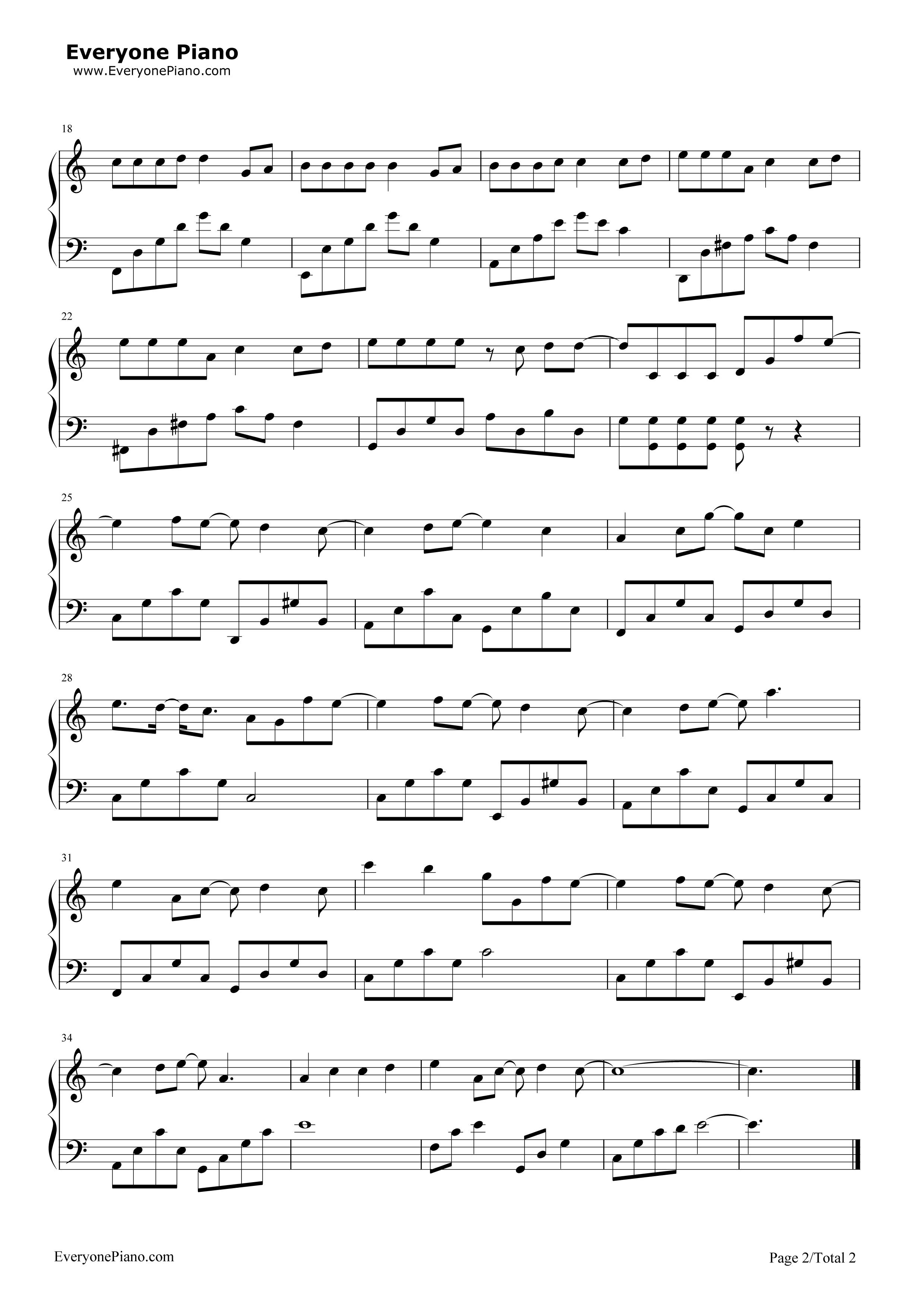 《告白气球》(《周杰伦的床边故事》)钢琴谱第2张